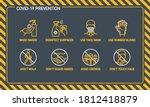 prevention line icons set... | Shutterstock . vector #1812418879