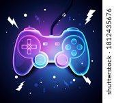 vector illustration retro neon...   Shutterstock .eps vector #1812435676