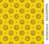 seamless pattern with a smiling ... | Shutterstock .eps vector #1812439990