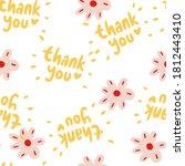 seamless floral pattern hand... | Shutterstock .eps vector #1812443410