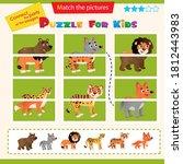 matching game for children.... | Shutterstock .eps vector #1812443983
