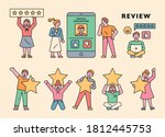 customers are staring in... | Shutterstock .eps vector #1812445753