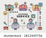 customer service center staff... | Shutterstock .eps vector #1812445756