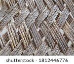 Straw Rope Weaving Pattern....