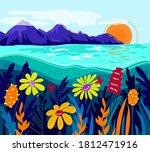 vector colorful landscape.... | Shutterstock .eps vector #1812471916