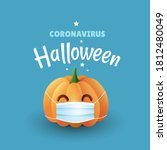 coronavirus halloween... | Shutterstock .eps vector #1812480049