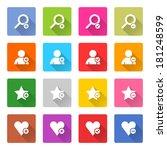 16 addition icon set 07  white...