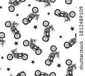 motorcycle tee pattern vector... | Shutterstock .eps vector #1812489109