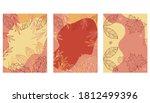 set of abstract autumn... | Shutterstock .eps vector #1812499396