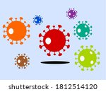 various colors of the corona... | Shutterstock .eps vector #1812514120