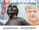 Small photo of Amsterdam, Netherlands, September 10 2020 Statue in front of the Ajax stadium of soccer legend Johan Cruyff. This statue is fully funded by fanatic Ajax fans and is located in front of the Ajax Store