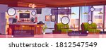 coffee shop interior with... | Shutterstock .eps vector #1812547549