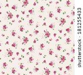 seamless cute ditsy flower...   Shutterstock .eps vector #181255433
