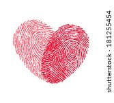 fingerprint heart | Shutterstock .eps vector #181255454