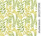 vector hand drawn leaves...   Shutterstock .eps vector #1812572950