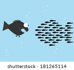 aquatic,attack,big,cartoon,chain,clip-art,comic,competition,concept,defenseless,eat,economic,economy,fish,friendship
