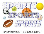 sports logo and banner with...   Shutterstock . vector #1812661393