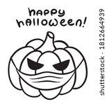 happy halloween pumpkin with... | Shutterstock .eps vector #1812664939