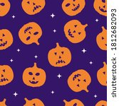 halloween seamless pattern with ... | Shutterstock .eps vector #1812682093