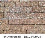 Orange Stone Block Wall Textur...