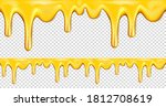 dripping honey seamless...   Shutterstock .eps vector #1812708619
