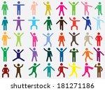 set of active human pictogram... | Shutterstock .eps vector #181271186