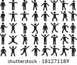 Set Of Active Human Pictogram...