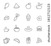 set of simple food line icons... | Shutterstock .eps vector #1812712123