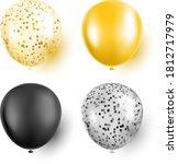 golden and black confetti... | Shutterstock .eps vector #1812717979