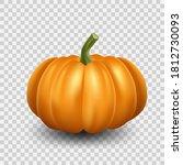 realistic orange pumpkin icon.... | Shutterstock .eps vector #1812730093
