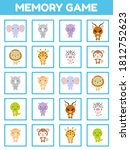 memory game with cute set... | Shutterstock .eps vector #1812752623
