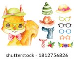 cute squirrel with fashion... | Shutterstock .eps vector #1812756826