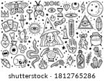 magic icons doodles outlines... | Shutterstock .eps vector #1812765286
