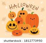 vector set of halloween...   Shutterstock .eps vector #1812773950