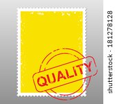 business postage stamp with... | Shutterstock .eps vector #181278128