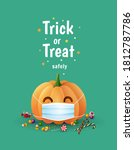 trick or treat safely.... | Shutterstock .eps vector #1812787786
