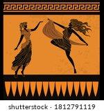 Orange And Black Muses Dancing
