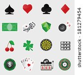vector set of casino icons | Shutterstock .eps vector #181279454