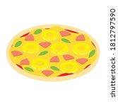 hawaiian pizza for restaurants...   Shutterstock .eps vector #1812797590