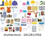 set of disaster prevention... | Shutterstock .eps vector #1812811906
