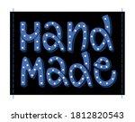 hand made. vector label.... | Shutterstock .eps vector #1812820543