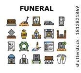 funeral burial service... | Shutterstock .eps vector #1812821869