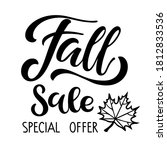 fall sale special offer. autumn ... | Shutterstock .eps vector #1812833536