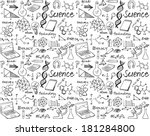 science doodle seamless... | Shutterstock .eps vector #181284800