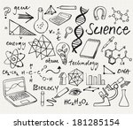 science icons doodle vector set | Shutterstock .eps vector #181285154