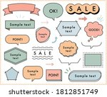 set of flat hand drawn frames... | Shutterstock .eps vector #1812851749