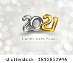 happy new year 2021 greeting... | Shutterstock .eps vector #1812852946