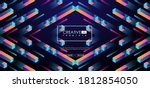 geometric 3d shapes  cubes and... | Shutterstock .eps vector #1812854050