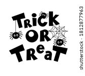 trick or treat lettering and... | Shutterstock .eps vector #1812877963