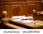 Small photo of Balance sign in court room